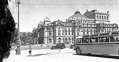 Dworzec autobusowy. Około 1936.