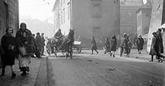 Ulica Szpitalna, dawna wikarówka. 1929.
